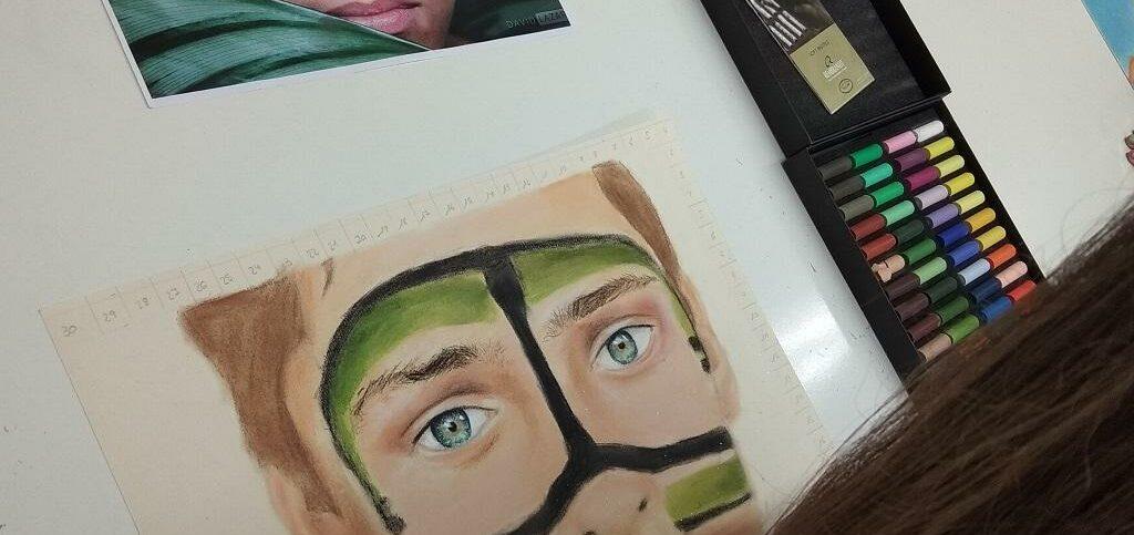 pastel retrato